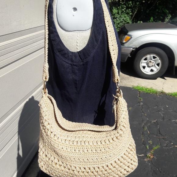 The Sak Bags Crochet Purse Shoulder Strap Beige Poshmark